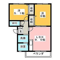 MSタウン[1階]の間取り