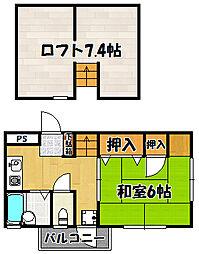 兵庫県神戸市西区枝吉4丁目の賃貸マンションの間取り