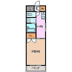 三重県鈴鹿市神戸5丁目の賃貸マンションの間取り