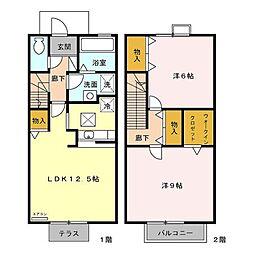 トマトハイツ 三番館[2階]の間取り