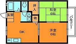 奈良県生駒郡平群町大字三里の賃貸アパートの間取り