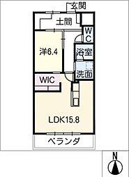 GRAN R TATSUMI 4階1LDKの間取り