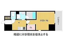 名古屋市営名城線 大曽根駅 徒歩3分の賃貸マンション 9階1Kの間取り