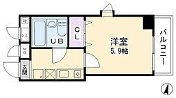 兵庫県神戸市中央区琴ノ緒町5丁目の賃貸マンションの間取り