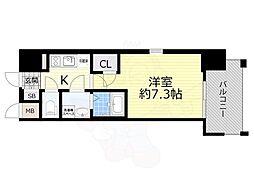JR東海道・山陽本線 岸辺駅 徒歩5分の賃貸マンション 2階1Kの間取り