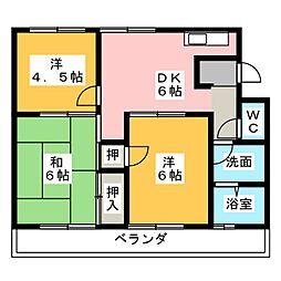 三善マンション[1階]の間取り