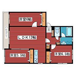 仮)西岡2-2マンション[2階]の間取り