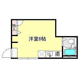 コーポ田中[201号室]の間取り