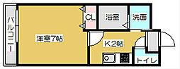 プチ・ロゼ[102号室]の間取り