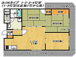 エクセルハイツ[4階]の間取り