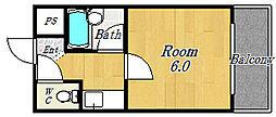 フェニックス花川[402号室号室]の間取り