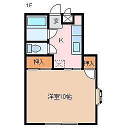 稼ぐ家姫15号[1階]の間取り