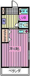 中野コーポ[3階]の間取り