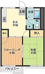 ガーデングローブ[2階]の間取り