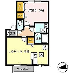 シティハウスながつ[2階]の間取り