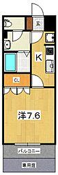プルミエール・エフ[105号室号室]の間取り