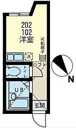 神奈川県横浜市磯子区岡村4丁目の賃貸アパートの間取り