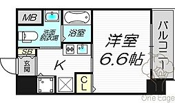 サムティ天満Dio[8階]の間取り
