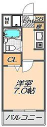 兵庫県神戸市須磨区白川台7丁目の賃貸マンションの間取り