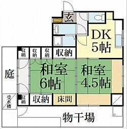 キュービックハウス[1階]の間取り
