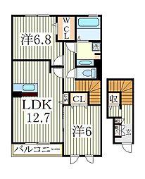 クレールI[2階]の間取り