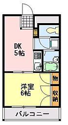 千葉県千葉市中央区矢作町の賃貸マンションの間取り