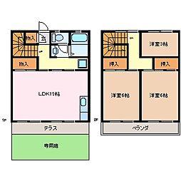ハギマンション[1階]の間取り