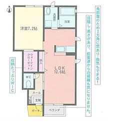 愛知県名古屋市昭和区伊勝町2丁目の賃貸アパートの間取り