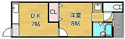 樋之上町マンション[1階]の間取り