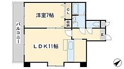 堺町センタービル[1001号室]の間取り