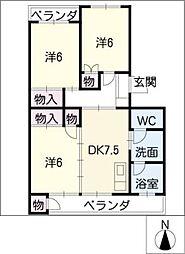 第1青峰ビル[2階]の間取り