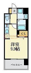 西鉄天神大牟田線 西鉄平尾駅 徒歩8分の賃貸マンション 10階ワンルームの間取り