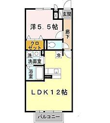 兵庫県明石市二見町西二見駅前の賃貸アパートの間取り