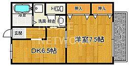 ドミール賀茂[201号室号室]の間取り