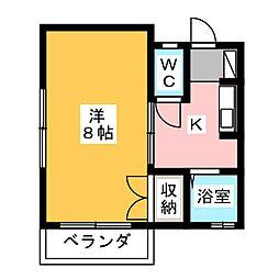 ハイツ富士II[2階]の間取り