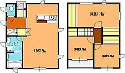 [一戸建] 埼玉県北本市中丸5丁目 の賃貸【/】の間取り