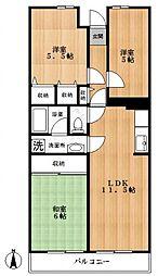 杢新ビル[6階]の間取り