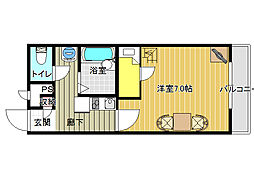 大阪府八尾市南太子堂2丁目の賃貸マンションの間取り