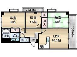 メゾン・ド・プレジール1[3階]の間取り
