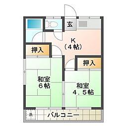 第一立石荘[2階]の間取り