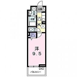 アビタシオン吉祥院[206号室号室]の間取り