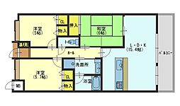 グランシティ加古川[4階]の間取り