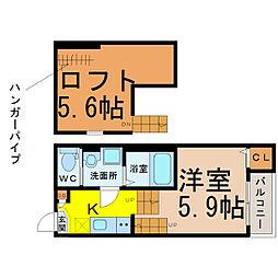Prendore−R(プランドールアール)[1階]の間取り