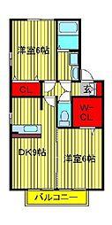 トレグラースB棟[2階]の間取り