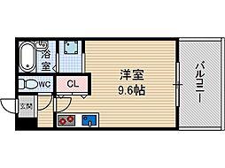 パインハイツ東伸[4階]の間取り