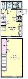 神奈川県横浜市中区根岸町2丁目の賃貸アパートの間取り
