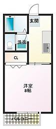 ハイネス本荘[2階]の間取り