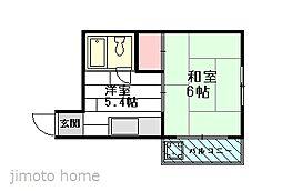 三原ハイツ[1階]の間取り