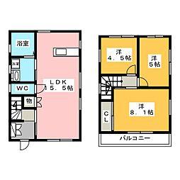 [一戸建] 愛知県名古屋市守山区小幡2丁目 の賃貸【/】の間取り