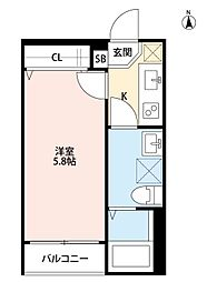 ミライオ板橋(ミライオイタバシ)[301号室]の間取り
